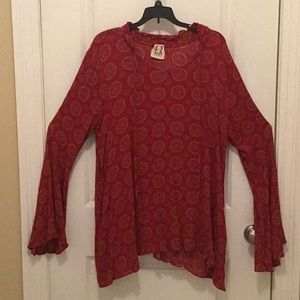 PPLA tunic with bell sleeves